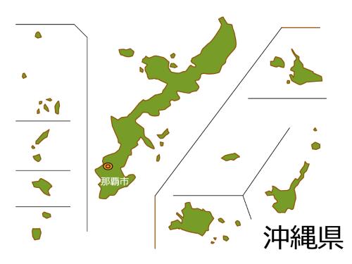 沖縄県の地図