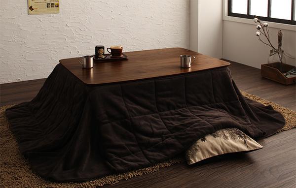 板の間にマッチするこたつテーブル