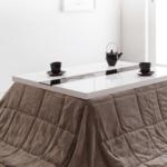 ホワイトカラーのこたつテーブル