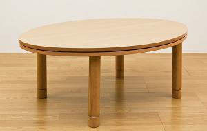 丸脚丸型こたつテーブル