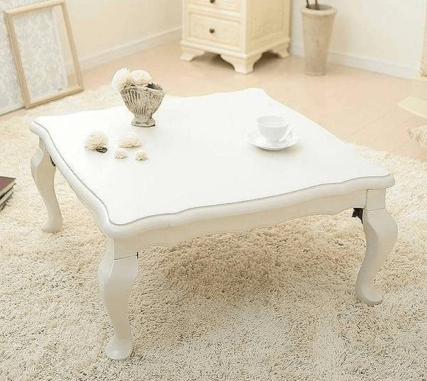 脚がキュートな猫脚こたつテーブル