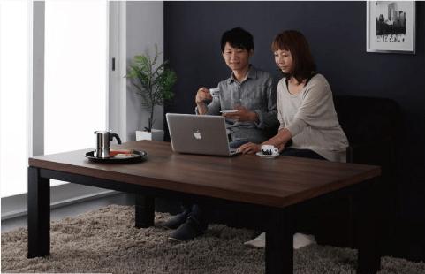 2人でパソコンが打てるテーブル