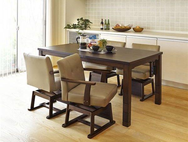 4人家族用ハイタイプこたつテーブル
