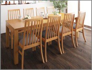 ハイテーブル・チェアタイプの伸長テーブル